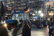 Συλλαλητήριο των αγροτών στο κέντρο της Λάρισας - ΒΙΝΤΕΟ - ΦΩΤΟ