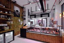 Naše maso / Ambiente řeznictví v Dlouhé ulici