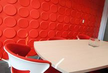 Colored 3D Wall Panels / WallArt 3D Wall Panels can be painted and repainted! Please check http://www.mywallart.com