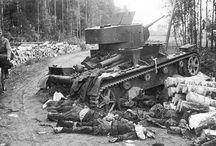 Destroyed Soviet tanks in Finland WW 2