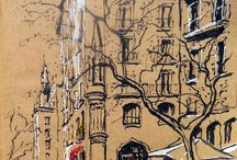 urban sketch no barcelona
