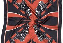 Silk Scarves / #foulards #scarves #scarf #soie #silk #madeinfrance #vintage #retro #neoretro #moto #motorcycle #drivers #gentlemen #gentlemenracers #tradition #lyon #chic #elegance #vintagefashion #apieceofchic