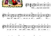 Christmas hymn cards