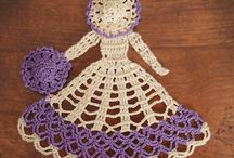 Crochet crinoline lady