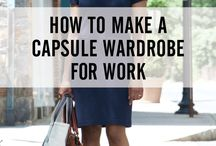 Clothing ideas for work / capsule wardrobes, outfits, basics ...