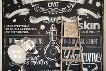 Chalkboard arts / I want to learn this! So I practice with this moodboard