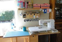Sewing/Craft Space Inspiration / Ideas, inspiration and products to organise your crafty space.