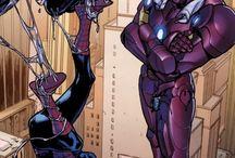 iron man & spiderman