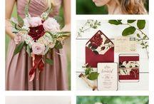 Marsala + Dusty Rose Wedding
