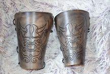 Leder Armschienen Vikings