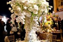 """""""Over the Top"""" Wedding Reception Flowers / Learn how to make bridal bouquets, wrist corsages, groom boutonnieres, reception table centerpieces and church flower decorations.  Buy wholesale fresh flowers and discount florist supplies."""