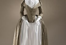 18th century stripes robe