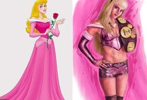 """Kick-butt Disney princesses / In Casablanca, Humphrey Bogart's character tells Ingrid Bergman's character, """"I'll do the thinking for the both of us."""" Happily, the steady march toward strong, complex women in movies and literature has continued.  In the spirit of the indomitable heroine, DeviantArt user joshwmc took some classic Disney damsels and gave them some teeth. No more laying asleep waiting for the prince to arrive! That time is better spent sharpening a weapon or practicing martial arts!"""