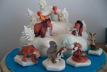 Ice Age Cakes / Come see what all your favorite prehistoric friends are up to in this collection of Impressive Ice Age Cakes. They're all here, Manny, SDid, Scrat, Captain Gutt, Scrattle, Ellie, Ariscrattle, Shira, Steffie, Granny, Squint #ice-age #diego #sid #manny #cakecentral