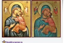 Ikony na desce - icons religious / ikony na desce hand- made