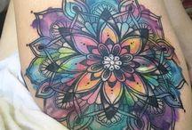 Tatuajes de flor de mandala