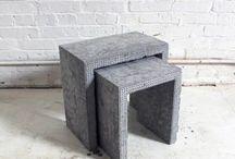 mesas auxiliares concreto