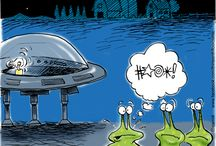 Alien, extraterrestrial and outer space humor. / Humor involving aliens, area 51, outer space and extraterrestrials.