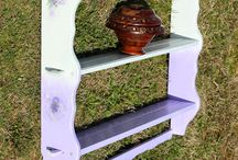 Lilac shelf / Restoration of furniture