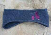 Fleece Winter Headbands, Earwarmers / Custom designed fleece, one size fits most headbands keep your ears warm during outdoor activities. Accented with glass crystals, machine washable. Custom orders always welcome. School name, sports, cheer, ranch brands, options are endless.  www.pamperedcowgirl.com