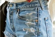 Denim Dreams / Frayed denim, acid wash jeans, button-up skirts: this timeless piece is always reinvented by designers and high-street labels. Whether you're into gypsy 70's flare jeans, skinny jeans or like a good boyfriend, this board is for all denim lovers who swear by their torn denim jacket and cuffed jeans as their everyday uniform.