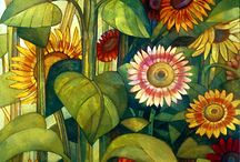 flowers and fruits /paintings/pictures