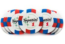 Imperial Casino / Imperial Casino style poker chips and game layouts are exclusive to Casino Supply and reminiscent of the classic 50's Vegas era.