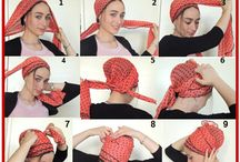 Tie scarf for your hair