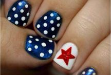 4th of July nails / by Maranda Koch