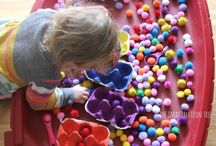 Keeping the tot busy / toddler activities, early learning, fun indoors