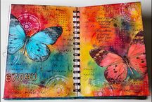 Art journaling / Pages of art journaling inspiration