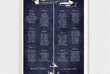 Seating chart / Wedding seating charts by i do it yourself