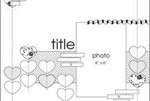 Scrapbook layouts / by Stampin' Up! Demonstrator Sandra Roberts
