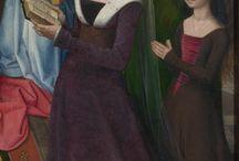 Burgundian Dress