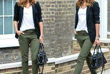 zelene kalhoty