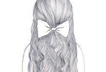 Hair drawings