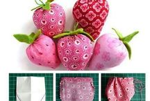 strawberries fabric