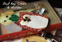 Schlüsselhalter eule
