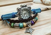 Watches with pendants / Casual watches with different pendants - all handmade, individual and offers the wearer a completely casual but eye-catching look!