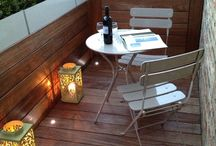 Ideas for the roof terrace and courtyard