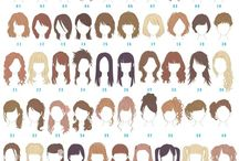 Girl Hair Styles / Triangle faces