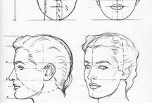 Dibujos de rostros mujer