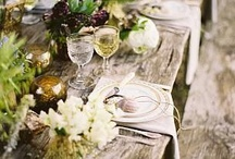 Rustic style table settings / by Old Forest School Limited