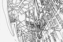 スケッチ・イラスト 建物