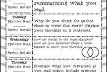 Literacy homework sheet