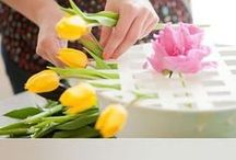 Hacer centros flores