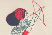 Evelyne Mary / Découvrez les linogravures de l'artiste Sandra Poirotte à la galerie L'oeil ouvert !