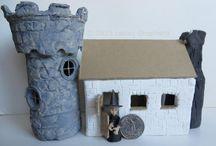 Halloween Village Houses