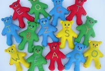 Alphabears / Alphabears - hand made using ecofelt and 100% recycled polyester filling.