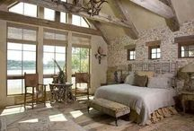 grand rustic country style bedroom!WOW